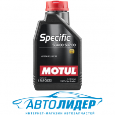 Моторное масло Motul SPECIFIC 504 00 507 00 SAE 0W-30 1л