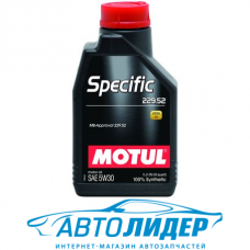 Моторное масло Motul SPECIFIC 229.52 SAE 5W-30 1л